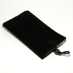 Black Premium Velour Super Soft Slip Pouch Case for Mobile Phone or iPhone iPod
