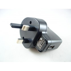 USB 5V 1A UK Mains Charger Plug 3 Pin