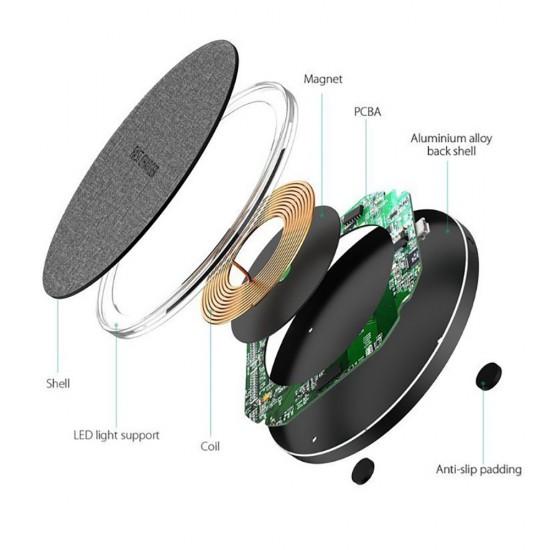 Ultra-Thin Aluminium Alloy Fast Charging Wireless Charger 20W Fast Charging Fast Charge Pad Wireless Charging