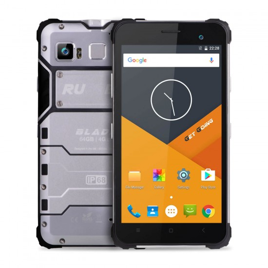 RUGGEX Blade 4G Rugged SmartPhone IP68 Waterproof & Dustproof LTE Tough Phone