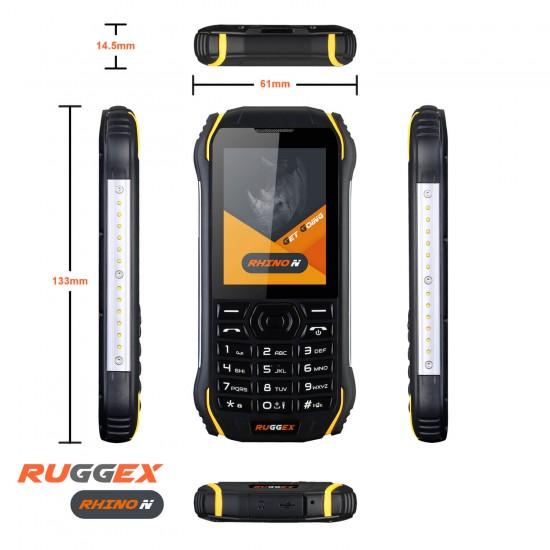 RUGGEX Rhino N 3G Rugged Tough Phone IP68 Waterproof Dustproof Shockproof