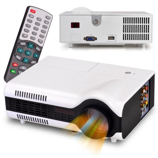 VIVIFI Glow Pro LED LCD Projector 1080P HDMI Home Cinema Movies Games Presentation